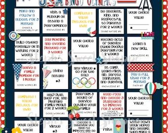 LDS Personal Progress Summer Bingo Card for Young Women