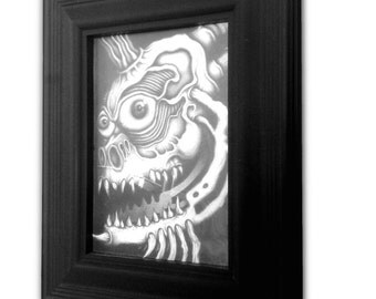 Faceache - Original Pencil Drawing (Framed)