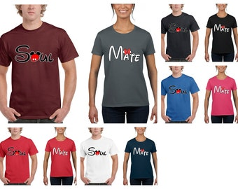 Soul Mate Mickey and Minnie Matching Couples Romantic T-Shirt
