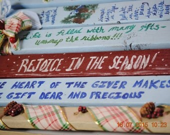 Rejoyce in The Season ... Inspirational Wall Hanging Fence Picket