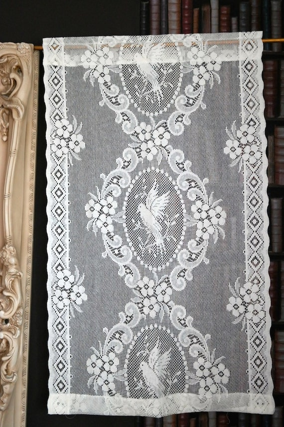 exquisite victorian style cotton lace curtain panelling sold yardage