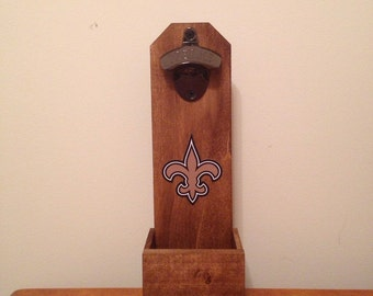 Wall Mounted Bottle Opener - New Orleans Saints