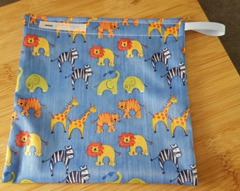 Reusable snack bag, food safe