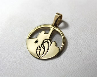 Pendant Locket N.D. of the guard gold 750