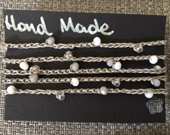Bracelet with Swarovski crystals and Crystal means