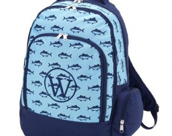 Monogrammed Boys Bookbag, Boys Backpack, Monogrammed Backpack, Boys Book bag, Monogrammed Book Bag, Sailboat Book bag, School bag