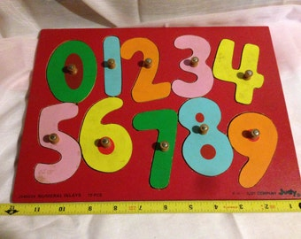 1970s Kids Number Inlay Puzzle