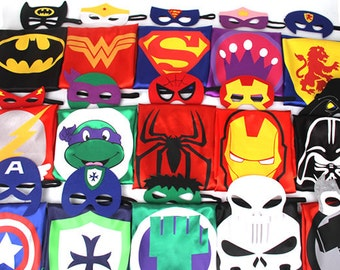 43.3 inches Adult superhero capes set
