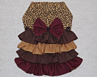 Leopard Ruffled Pet Dress