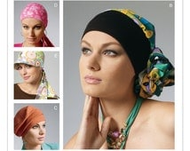 Sewing Pattern for Womens Headband, Head Wraps and Hats Patterns, McCall's Pattern 6521, Chemo Head Wraps, Fashion Accessories