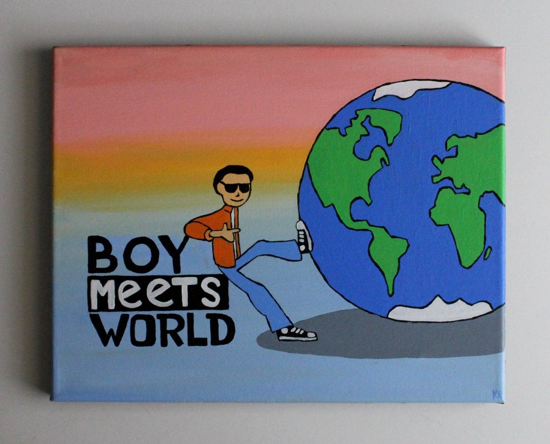 Boy Meets World Logo Disney Tv Show Art Handmade Acrylic