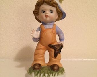 Homco Boy Figurine