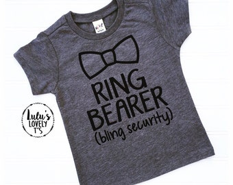 Ring Bearer Shirt - Ring Bearer Outfit - Ring Bearer Gift - Ring Bearer Tee - Ring Bearer Tshirt - Shirt for Ring Bearer - Ring Bear