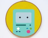 BMO, Adventure Time Cross Stitch Pattern, Easy Cross Stitch Chart, PDF Format, Instant Download