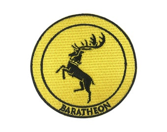 Game of Thrones Patch Baratheon Patch Embroidered Movie Iron On Sew On Patches
