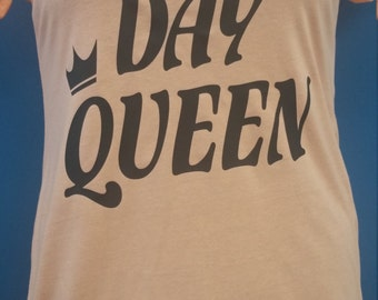 Birth Day Queen women's Fitted tshirt