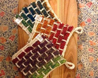 Handmade cotton multi-use kitchen cloth; Eco-friendly towel