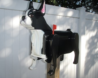 BOSTON TERRIER MAILBOX - free shipping