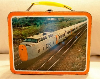 Vintage Canadian Ohio Art National Railway Train Lunchbox 1970