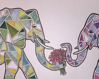 Elephant Kaleidoscope
