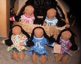 "15"" Alaska Native Cloth Dolls"