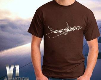 Airplane 737 silhouette tshirt