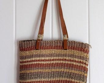 1970s Sisal Market Bag