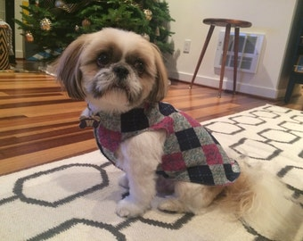 Argyle dog sweater