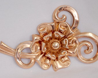 Vintage brooch copper looking finish, marked sterling signed SB artist circa 1940's