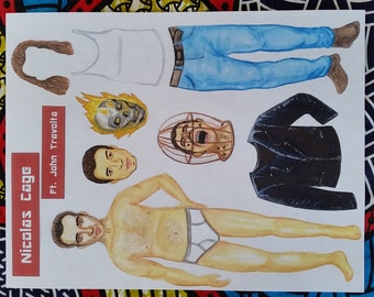 Nicolas Cage 'Paper Doll' Magnet
