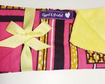 Cotton and Fleece Burp Cloth // African Print Burp Cloth // Ankara Print Baby Burp Cloth