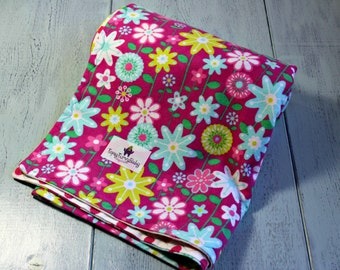 Flower Child - Baby Blanket - Baby Girl - Baby Shower Gift - Baby Gift - Swaddling Blanket - Receiving Blanket - Ready To Ship