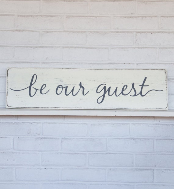 Ratings Feedback For Gavan Wood Painting Decorating: Be Our Guest Rustic Wood Sign Guest Room Sign By