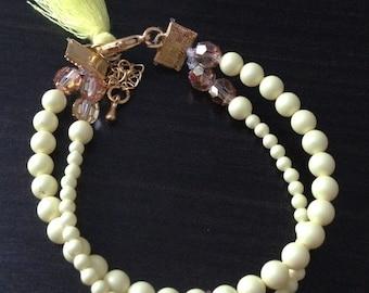Bracelet Pearl yellow