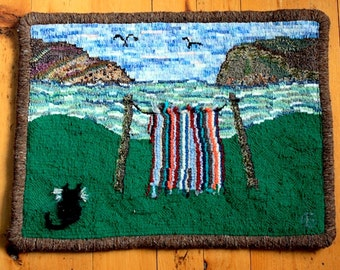 Hand Hooked Mat/Rug Wallhanging - The Old Blanket