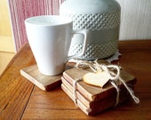 Solid Oak Coasters, Wood Coasters, Wooden Coasters, Coasters, Home Decor, Placemats, Country Living