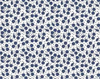 Riley Blake Designs Lazy Day Blue Cherries by Lori Whitlock C 3814