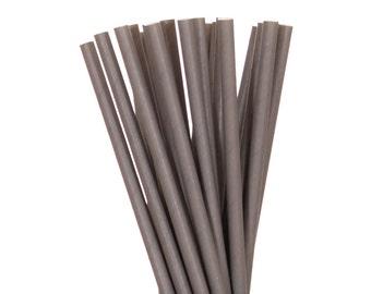 Paper Straws, Solid Gray Straws, Gray Paper Straws, Gray Wedding Straws, Silver Party Supplies, Vintage Paper Straws, Boho Chic Paper Straws