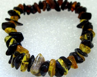 "Natural Baltic amber bracelet ""the illusionist"""