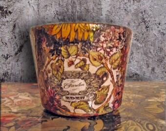 Hand painted flower pot, planter