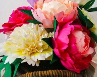 DIY Paper Flower Centerpiece/Bouquet - Paradise