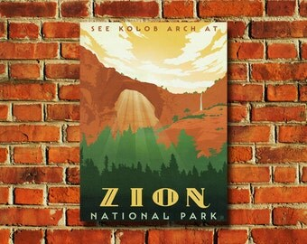 Zion National Park Poster - #0771