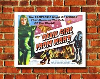 "Devil Girl From Mars Movie Poster - 11"" x 17"" - #0010"