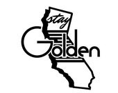California Stay Golden Sticker