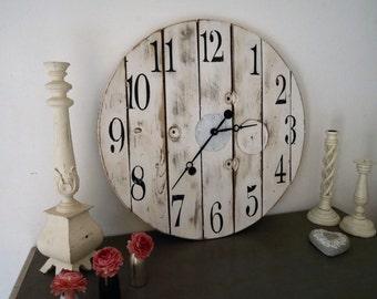 Shabby white clock