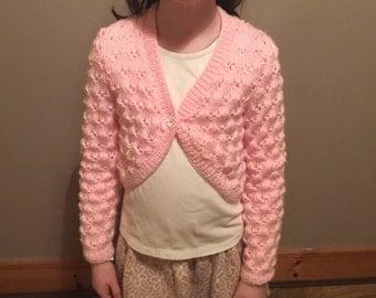 Irish hand knitted bolero cardigan