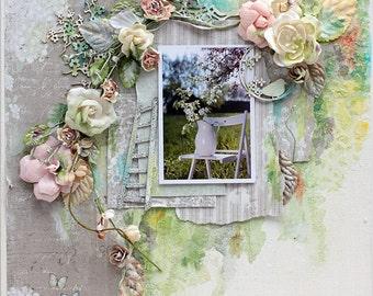 Spring Shabby Mixed Media Canvas