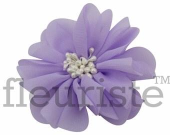LAVENDER Chiffon Flower, Wholesale Flower, Fabric Flower, Headband Flower, Wedding Flower, Flower Embellishment, Diy Flower, DIY Headband