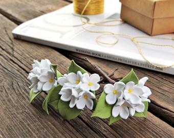 Hairpins bride, Hairpins for hair, Hairpins , Hairpins with flowers , wedding Hairpins , White Hairpins
