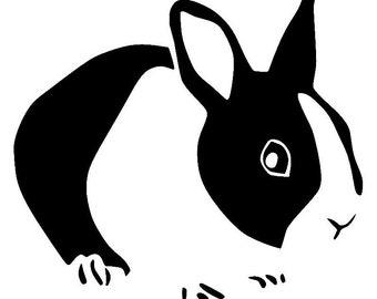 Dutch Rabbit Vinyl Decal